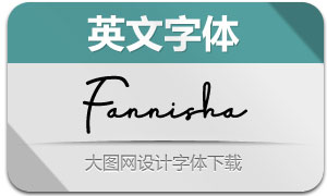 Fannisha(英文字体)