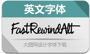 FastRewindAlternative(英文字体)
