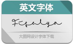 Fiselya(英文字体)