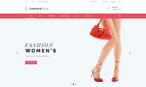 服飾鞋帽線上商城網頁模板分層素材