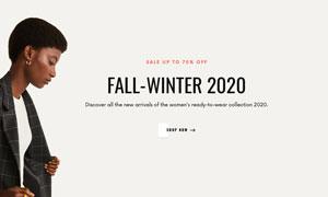 時尚服飾類目電商網站模板分層素材