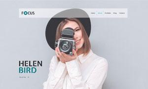 攝影師作品集個人網站設計模板素材