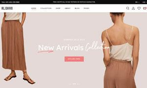 簡約風格時尚服飾網站模板分層素材