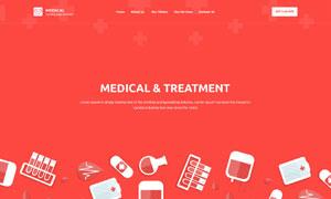 健康診療活動落地頁設計模板源文件