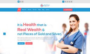 健康醫療主題落地頁設計模板源文件