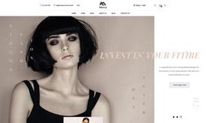 潮流服飾主題電商網站設計模板素材
