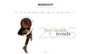 時尚鞋靴服飾電商網站設計分層模板