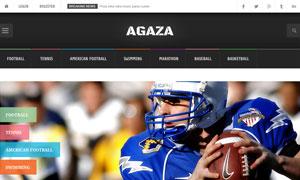 體育運動等媒體資訊網頁模板源文件