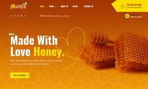 養蜂與蜂蜜企業網頁設計模板源文件