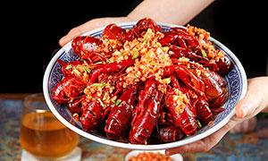 蒜蓉小龙虾高清摄影图片