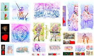 數碼照片轉油漆繪畫效果PS動作