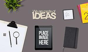 书写夹板与平板电脑等样机模板素材