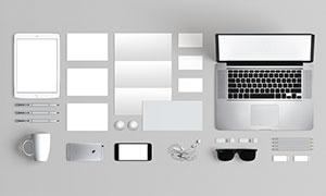 平板电脑与名片折页等效果展示模板