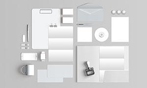 手表手机与折页等样机元素模板素材
