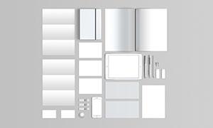 折页画册等企业识别元素样机源文件