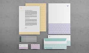 名片信封与信纸等效果展示模板素材