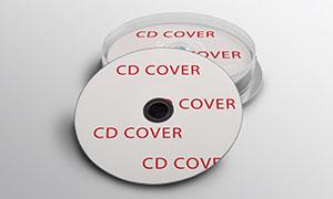 光盘封面设计效果展示模板分层素材