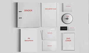 活页夹与信封记事本等样机模板素材