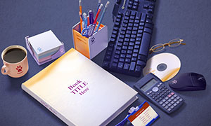 证件牌与书籍光盘等样机模板源文件
