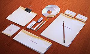信纸信封与便签纸等样机模板源文件