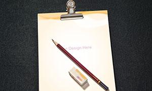 橡皮擦与书写纸张等样机模板源文件