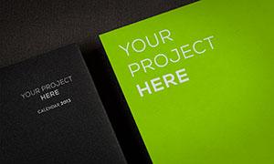 纸张上的标志印刷效果模板分层素材