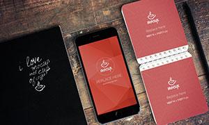 手机与活页记事本等样机模板源文件