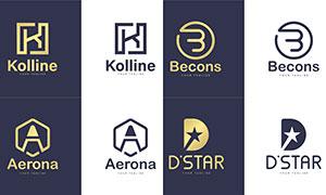 字母图案演绎品牌标志创意矢量素材