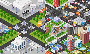 城市规划与道路景观交通等矢量素材