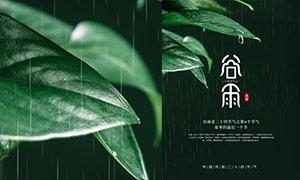 下雨主题谷雨时节海报设计PSD素材