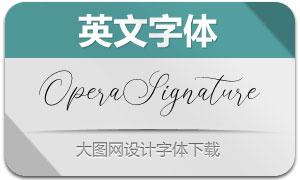 OperaSignatureScript(英文字体)