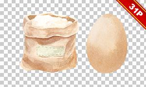 鸡蛋与面粉等食材物品免抠图片素材