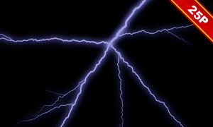 夜空中的閃電元素合成用圖片集V02