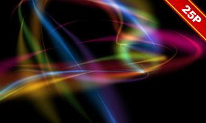 炫彩抽象曲線裝飾圖層疊加素材集V14