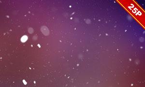 漏光光效與飄雪組合疊加圖片素材V01