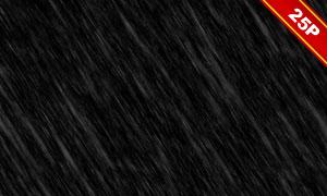 下雨情景后期合成適用疊加素材集V01