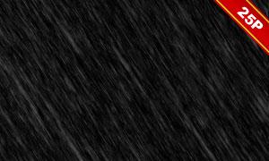 下雨情景后期合成適用疊加素材集V02