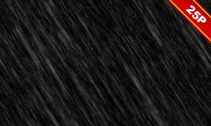 下雨情景后期合成適用疊加素材集V03