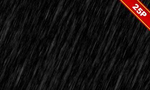 下雨情景后期合成適用疊加素材集V06
