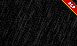 下雨情景后期合成適用疊加素材集V07