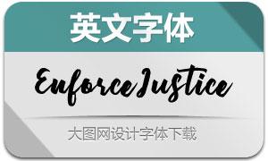 EnforceJustice(英文字體)