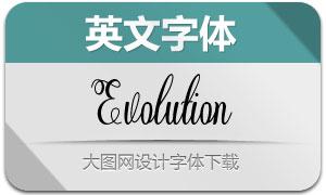 Evolution(英文字體)