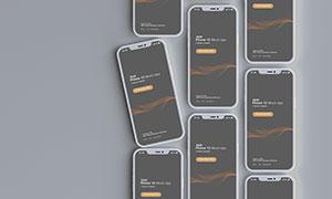 智能手机组合质感展示样机模板素材