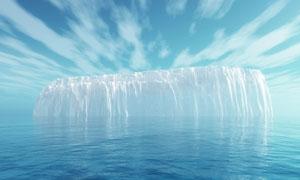 大海中的冰山攝影圖片