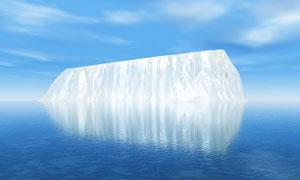 大海中的冰川攝影圖片
