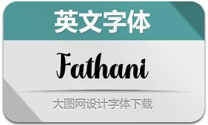 Fathani(英文字體)
