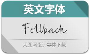 Follback(英文字體)