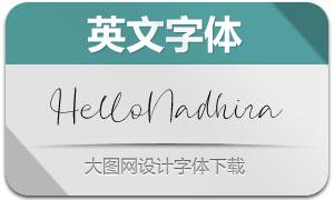 HelloNadhira(英文字體)