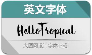HelloTropical(英文字體)