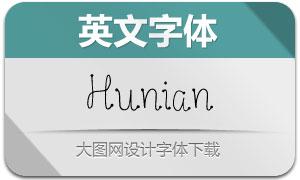 Hunian(英文字體)